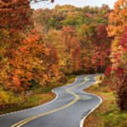 Fall Mountain Road Art Print