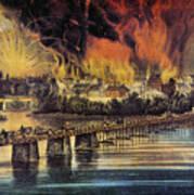 Fall Of Richmond, 1865 Art Print