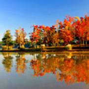 Fall On Lake Art Print