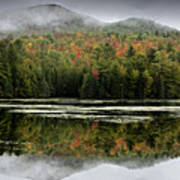 Fall Reflections In The Adirondack Mountains Art Print by Brendan Reals