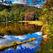 Fall Reflections On Cary Lake Art Print