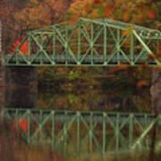 Fall Rocks Village Bridge Art Print