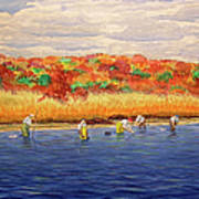 Fall Shellfishing In New England Art Print