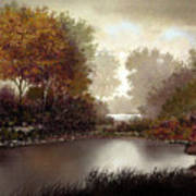 Fall Waters Art Print
