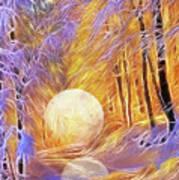 Falled Moon Art Print