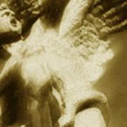 Fallen Angel Vertical Gold Art Print