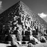 Fallen Stones At The Pyramid Art Print