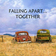Falling Apart Together Art Print