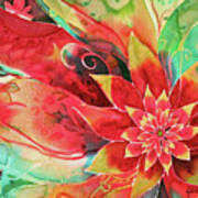 Falling Flower Art Print