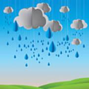 Falling Rain Art Print