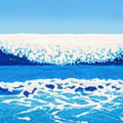 Falling Sea Art Print