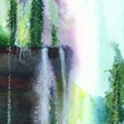 Falling Waters 1 Print by Anil Nene