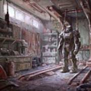 Fallout 4 Armour Art Print