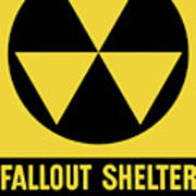 Fallout Shelter Sign Art Print