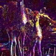 Fallow Deer Doe Fawn Hirsch Young  Art Print