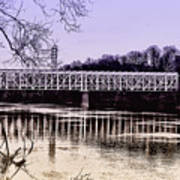 Falls Bridge Art Print