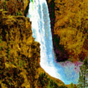 Falls Of The Yellowstone Art Print