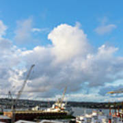 Falmouth Docks Cornwall Art Print