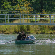 Family Boating If Forest Park Art Print