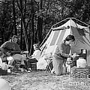 Family Camping, C.1970s Art Print