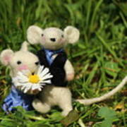 Family Mouse On The Spring Meadow .1. Art Print