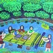 Family Picnic In Palau Art Print
