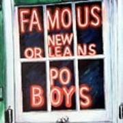 Famous French Quarter Window Sign Art Print by Terry J Marks Sr