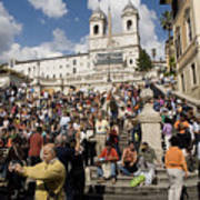 Famoust Spanish Steps In Rome Art Print