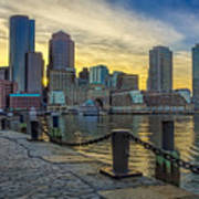 Fan Pier Boston Harbor Art Print