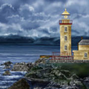Fanad Head Lighthouse Ireland Art Print