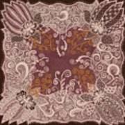 Fancy Antique Lace Hankie Art Print