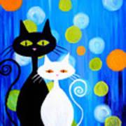 Fancy Cats Art Print