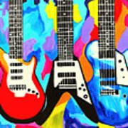 Fancy Guitars Art Print