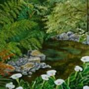Fantastic Canna Lillies Art Print by Val Stokes