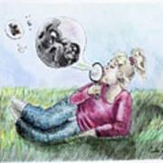 Fantasy Bubbles Art Print