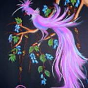 Fantasy Feather Bird Art Print