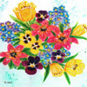 Fantasy Flowers #233 Art Print