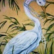 Fantasy Heron Art Print