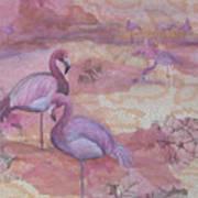 Fantasy In Pink Art Print