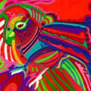 Fantasy Parrot Art Print
