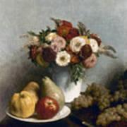 Fantin-latour: Fruits, 1865 Art Print