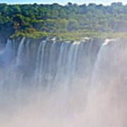 Far Side Of Devil's Throat In Iguazu Falls National Park-argentina   Art Print