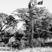 Faraway Windmill Art Print