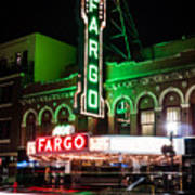 Fargo Nd Theatre At Night Picture Art Print