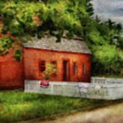 Farm - Barn - A Small Farm House  Art Print
