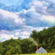 Farm - Barn - Home On The Range II  Art Print
