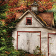 Farm - Barn - Our Old Shed Art Print by Mike Savad