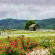 Farm - Barn - Out In The Country  Art Print