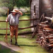 Farm - Farmer - Chores Art Print