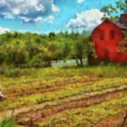 Farm - Farmer - Farm Work  Art Print